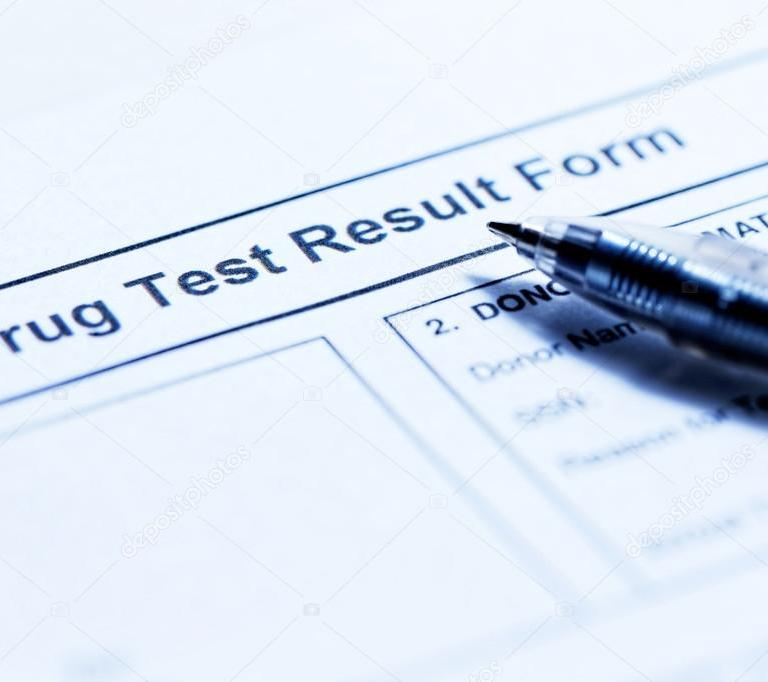 drug test sheet of paper