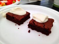 Orange brownies for dessert :) Photo c/o Kevin Bailey.