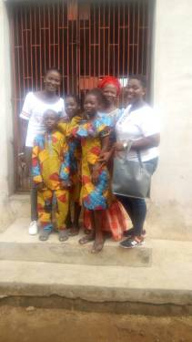 Widow of 8 years, lives at Baale.