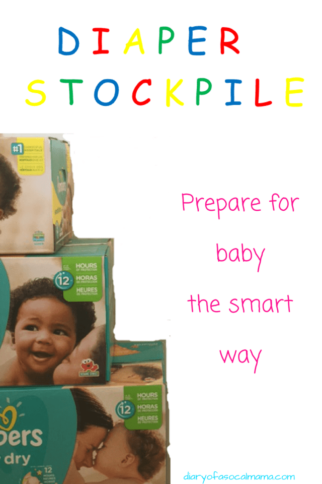 Read here to find out how to build a diaper stockpile for your baby and save money doing it!
