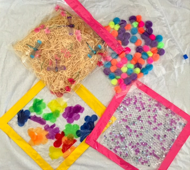 Dollar store sensory bags for babies