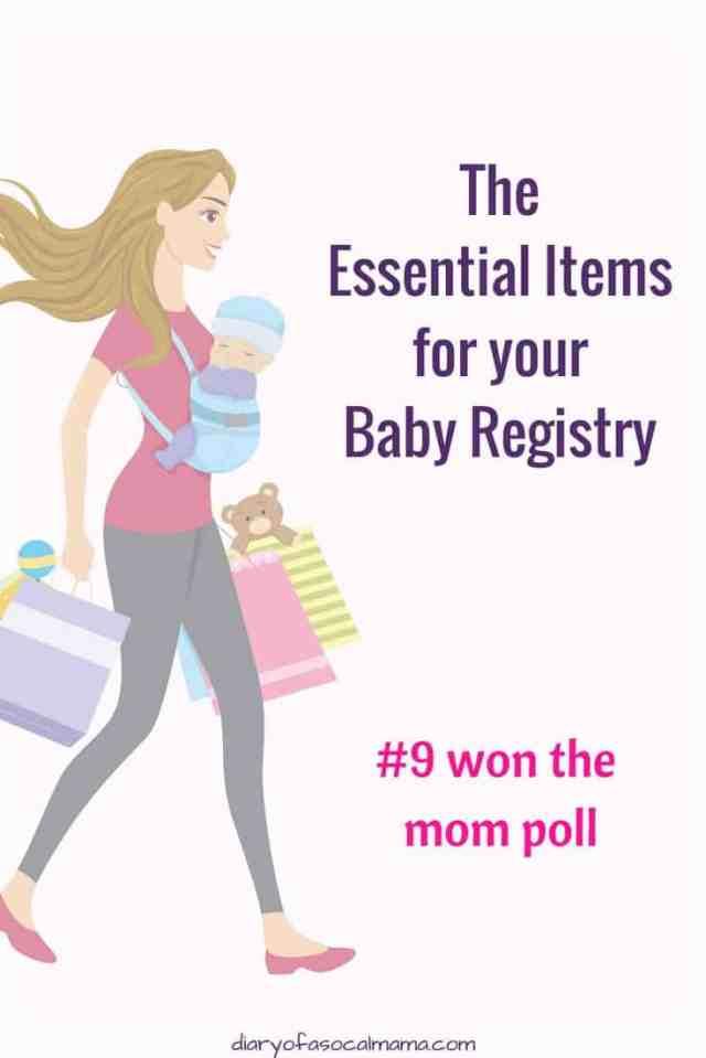 Essential baby registry items