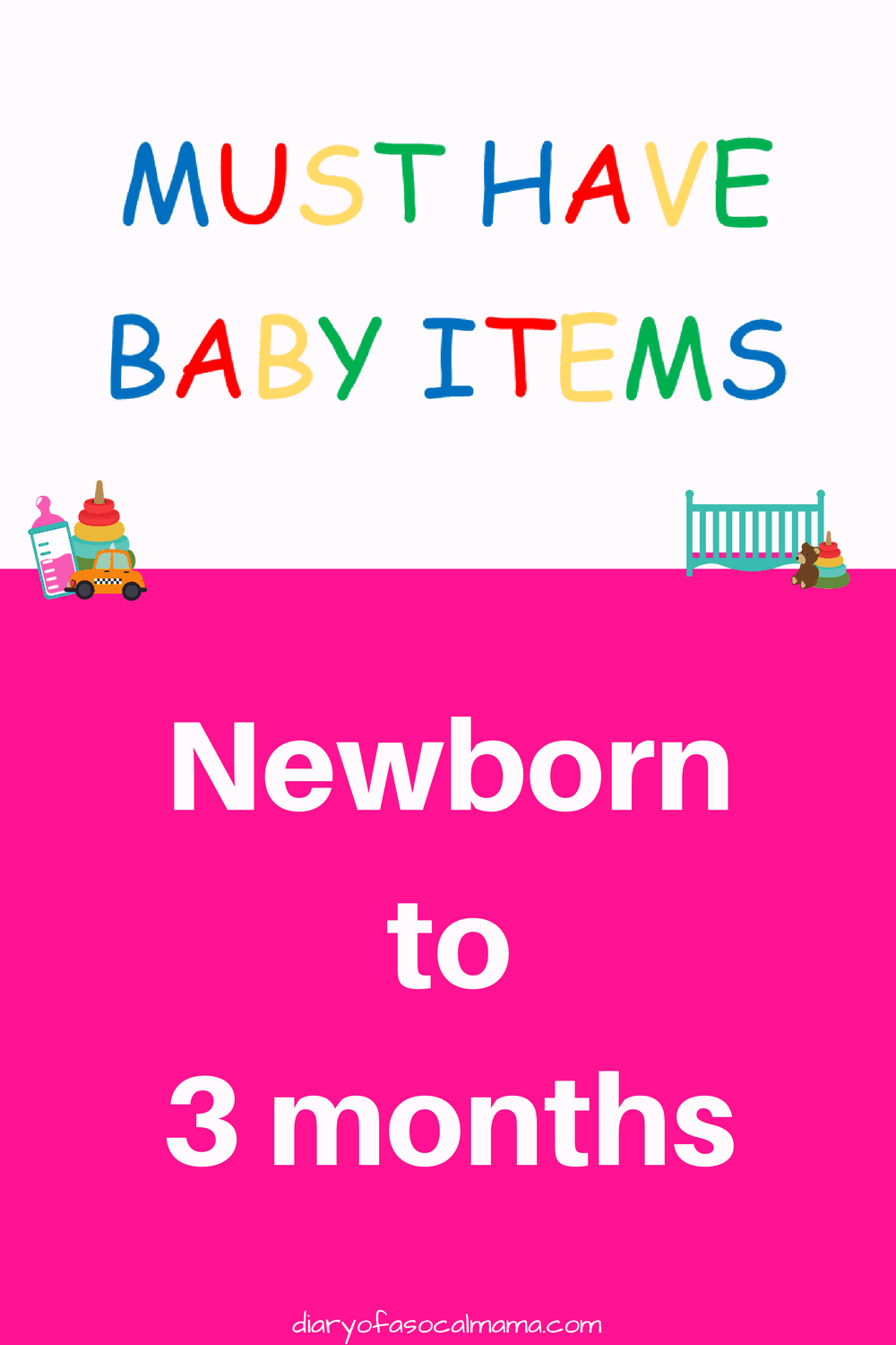 Check out my list of essential baby items for newborn to 3 month old. These must have items are sure to please your little one.