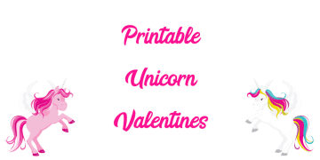 Printable Unicorn Valentines