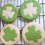 St. Patrick's Day Shamrock Center Sugar Cookies