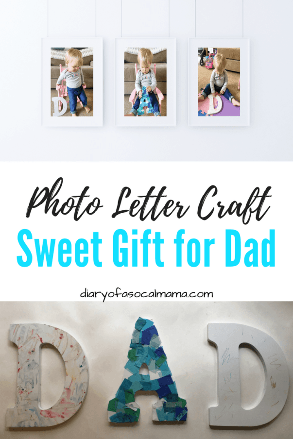 Photo Letter Craft Fathers Day craft