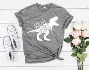 Preggosaurus maternity tee