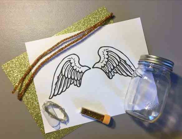 angel mason jar supplies