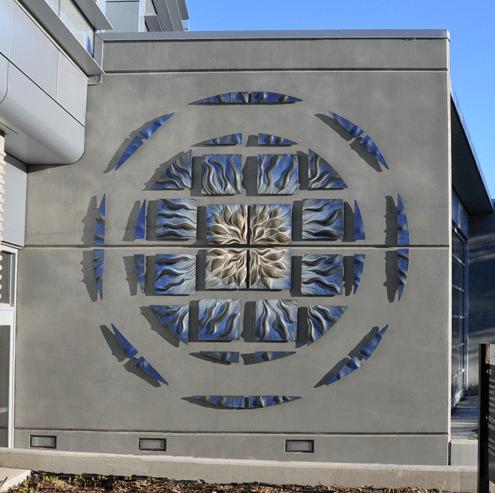 Blue Ripple Mandala by Natalie Blake Studio