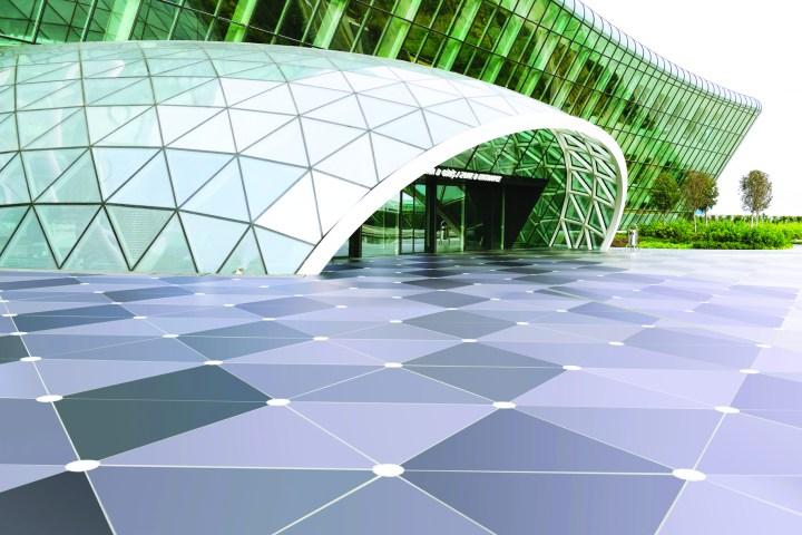 Dekton flooring at Baku Heydar Aliyev International Airport, Azerbaijan