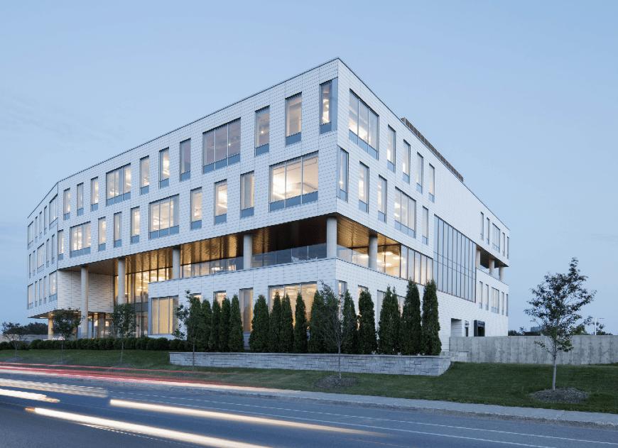 OIIQ in Montréal's Angus Technopôle features HT ventilated ceramic cladding