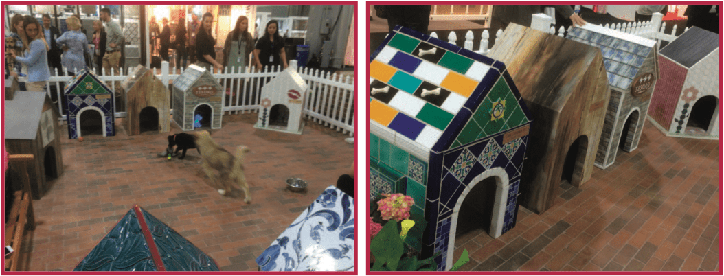 The Coverings doghouses at Atlanta