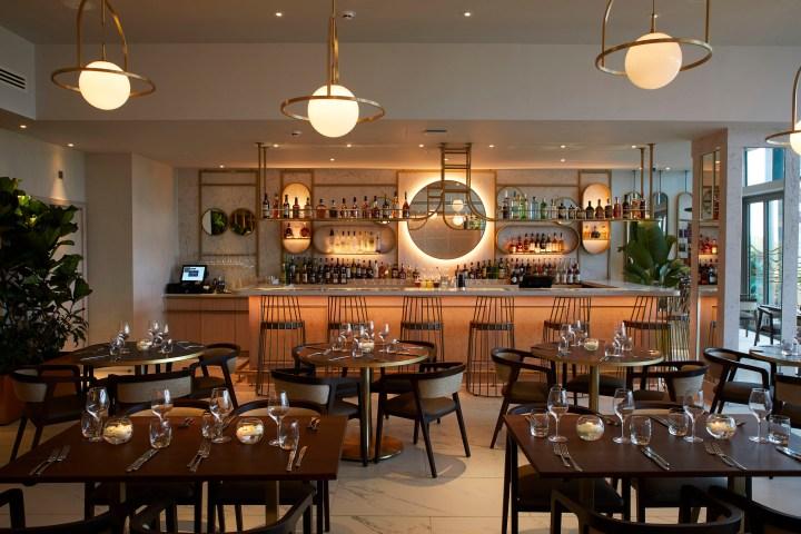 Caesarstone installation at Cinnamon Kitchen in Oxford designed by DesignLSM
