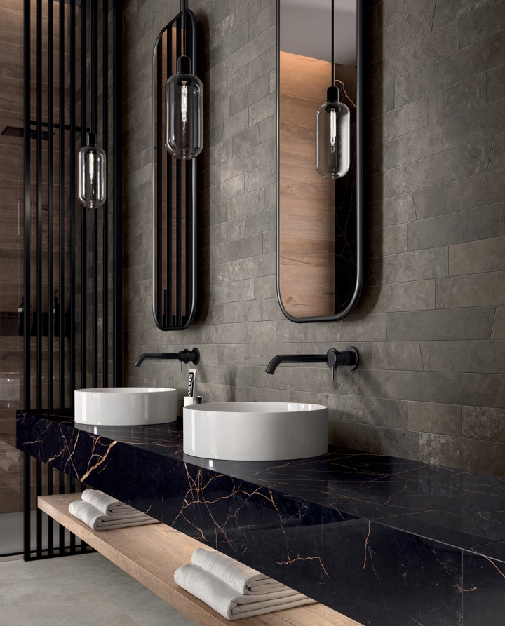Supreme washbasin countertop and bathroom surfaces by Flaviker