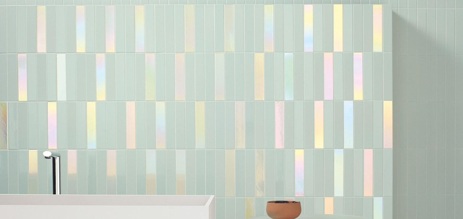 skinny format pearlescent tile 41zero42
