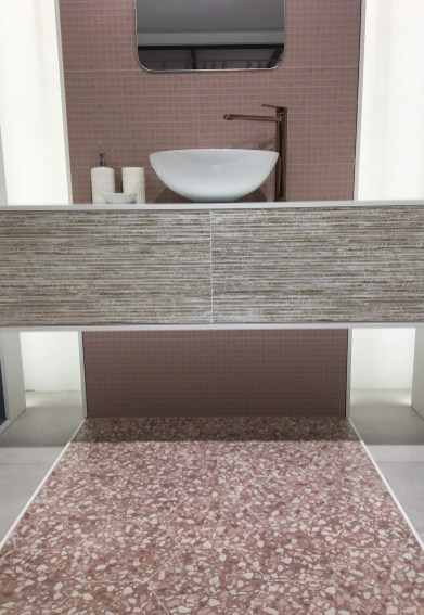 Japandi Kayachi Rose and Six Terrazzo Rose from Durstone
