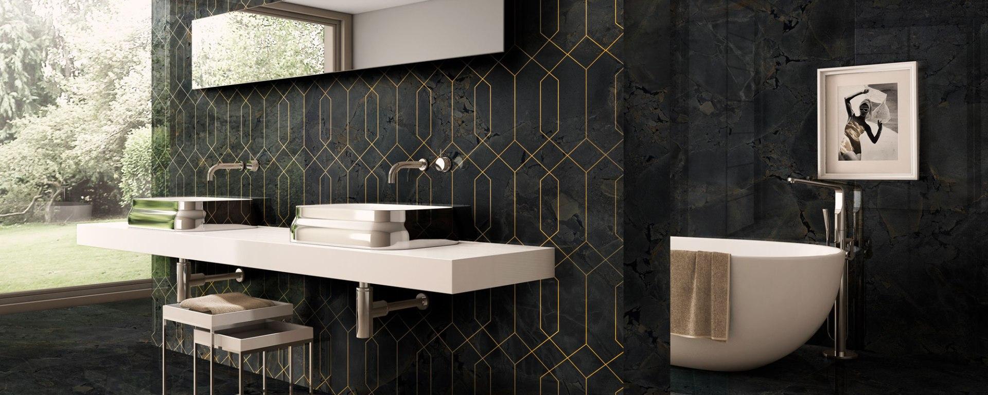 Arklam's Jurassic Gold art deco tile 2020