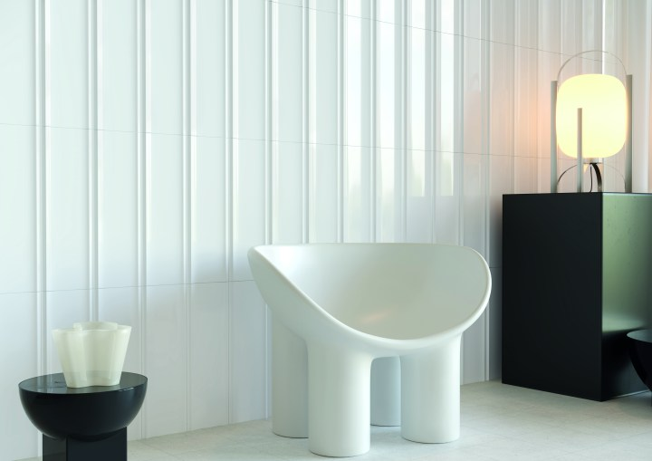 Bow white, 150 by 450mm, by Harmony