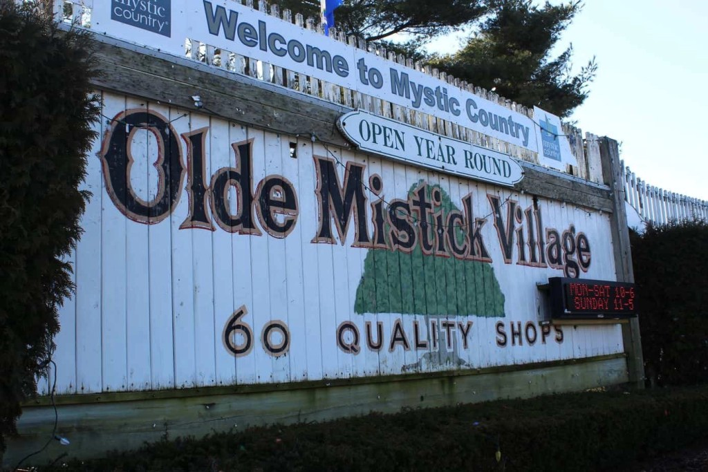 Olde Mystic Village sign