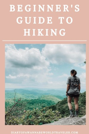 Hiking for beginners pin