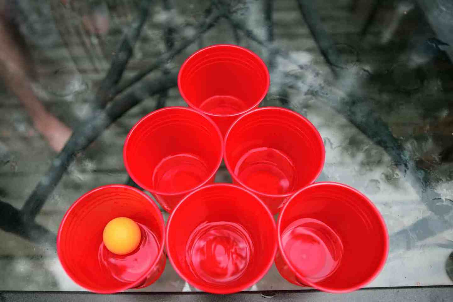beer pong- fun camping games