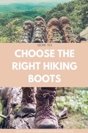 how to choose hiking boots pin