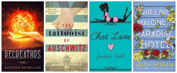 monthly wrap up april the recreators chat love the tattooist of auschwitz queenie malone's paradise hotel blog blogging book books goodreads netgalley