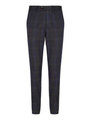 Arnotts Ted Baker Navy Green Tartan trousers €155