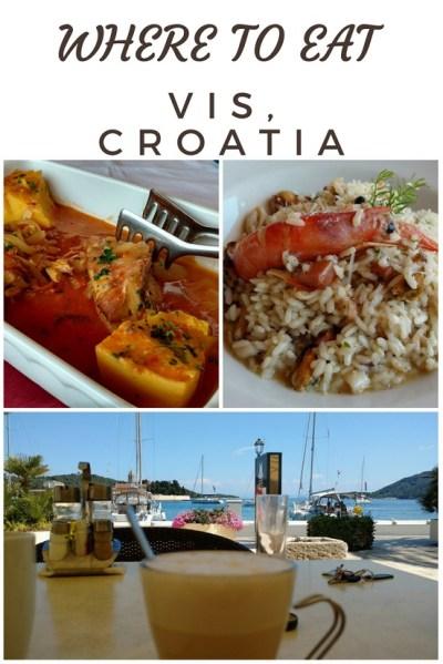 Where to Eat vIS cROATIA