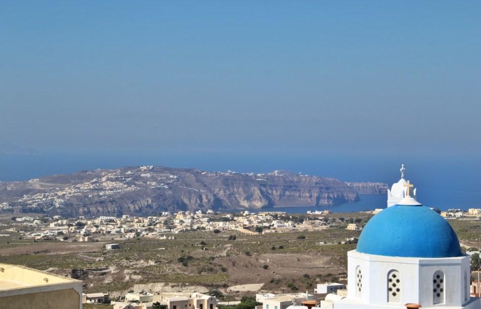 Kasteli Santorini view