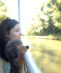 Me and Hedgehog enjoying the Canal du Midi