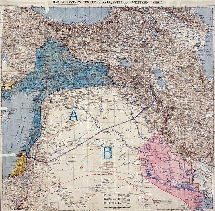 Harta e Marrëeveshjes Sykes-Picot
