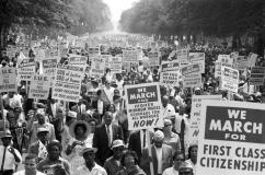 Martin Luther King, marche pour les droits civiques- Washington