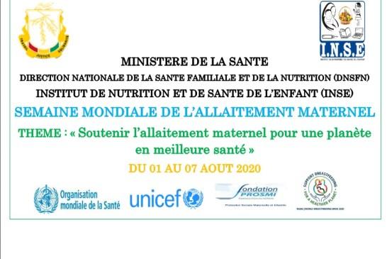 Guinée : L'Institut de Nutrition et de Santé de l'Enfant INSE célèbre la semaine mondiale de l'allaitement
