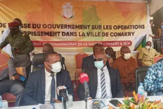Conakry : Le gouvernement met en garde ceux qui seraient tentés de revenir sur les lieux déguerpis