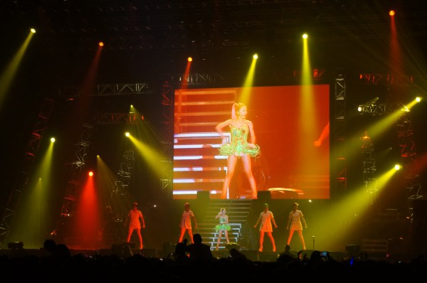 Jolin Tsai in concert during her stop in London for her Myself World Tour.