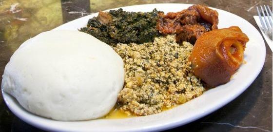 nigerian plate of food