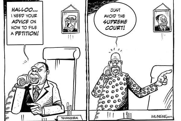CARTOON: Ati Tsvangirai Asked Raila How To File An