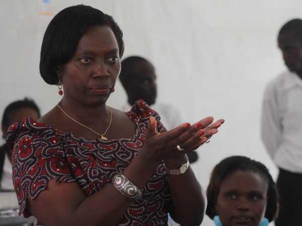 Narc-K leader Martha Karua speaking at a past event. Photo/file