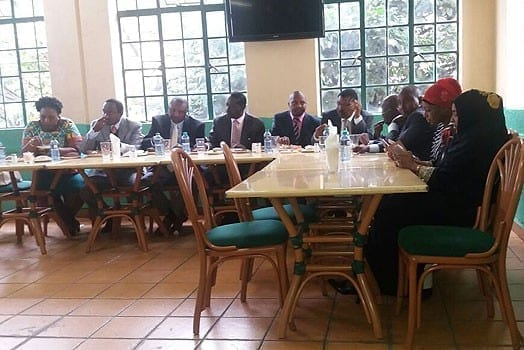 Raila Odinga hosted the eight MPs for lunch at the Ranalo restaurant on June 21, 2016. PHOTO   COURTESY