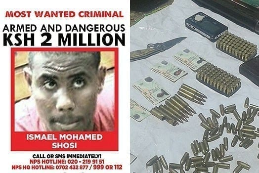 LEFT: The suspect Ismail Mohammed Soshi. RIGHT: A cache of weapons found in the house. PHOTOS  