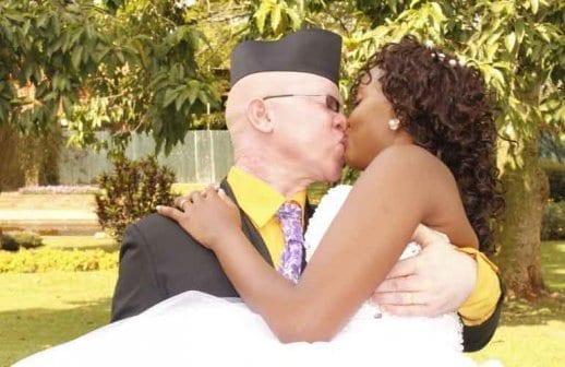 Isaac Mwaura with his bride Nelius Mukani: Photo; Courtesy