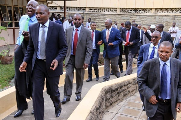 Cord MPs walk out of the House in protest.