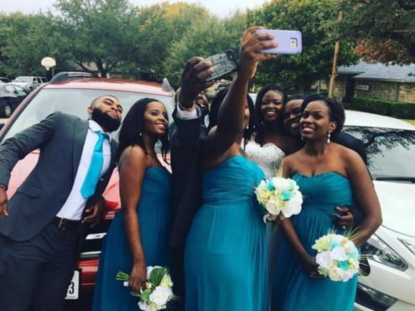 Eunice Njeri with her bridal party