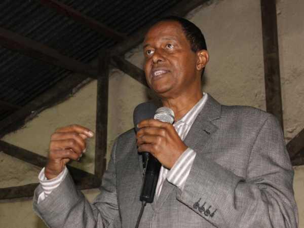 Kamukunji MP Yusuf Hassan at Kamukunji Secondary School in Nairobi, September 01 2016. / BRIAN SIMIYU