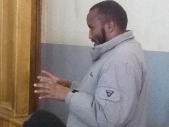 Abdikadir Abdi when he appeared in an Eldoret court yesterday / MATHEWS NDANYI