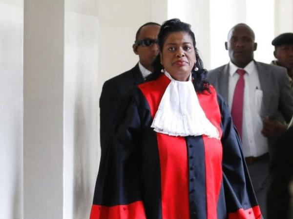 Supreme Court judge Njoki Ndung'u leaves court after the ruling on the presidential election petition, September 1, 2017. /JACK OWUOR