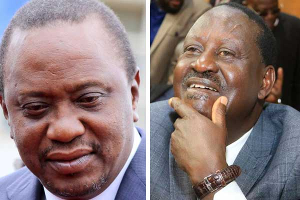 A combined picture of President Uhuru Kenyatta
