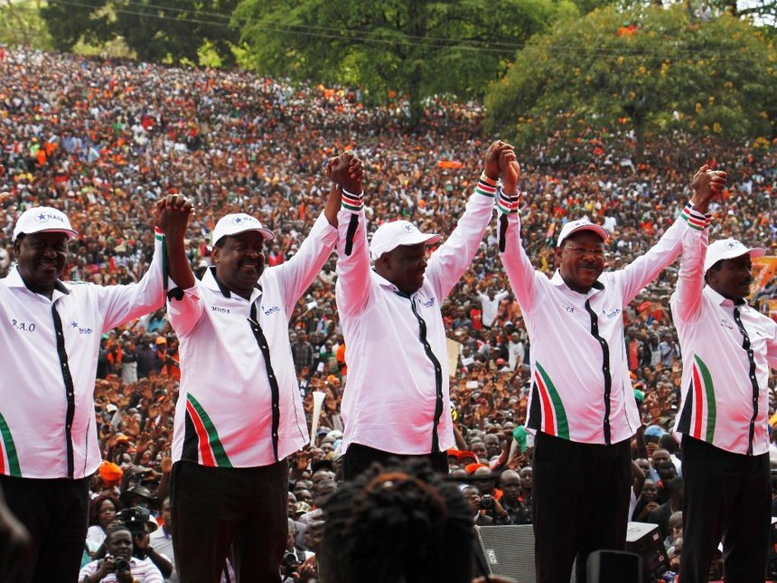 Image result for What NASA? Raila turned co-principals into oranges