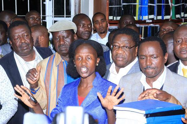Supreme Court registrar Esther Nyaiyaki and nasa petition